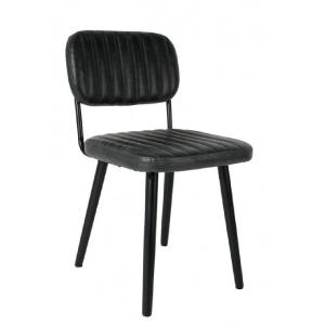 Cambone, chaise en cuir et...