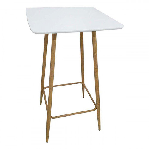 Atlas, table extensible en verre trempé - Blanc - Blanc - 120 cm x 80 cm (4 couverts)