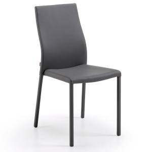 Aura, chaise simple effet cuir