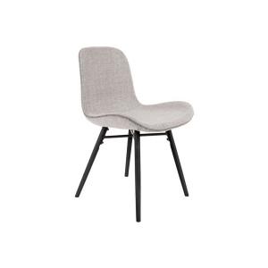 Chaise fauteuil avec accoudoirs en bois et tissu - MAX