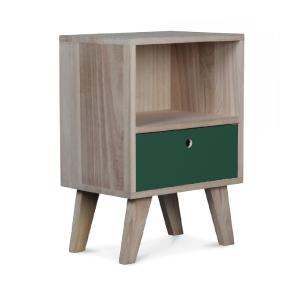 Soula, table de chevet - Vert