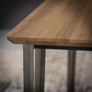 Tabouret de bar en bois chêne scandinave - SCANDIA BLANC
