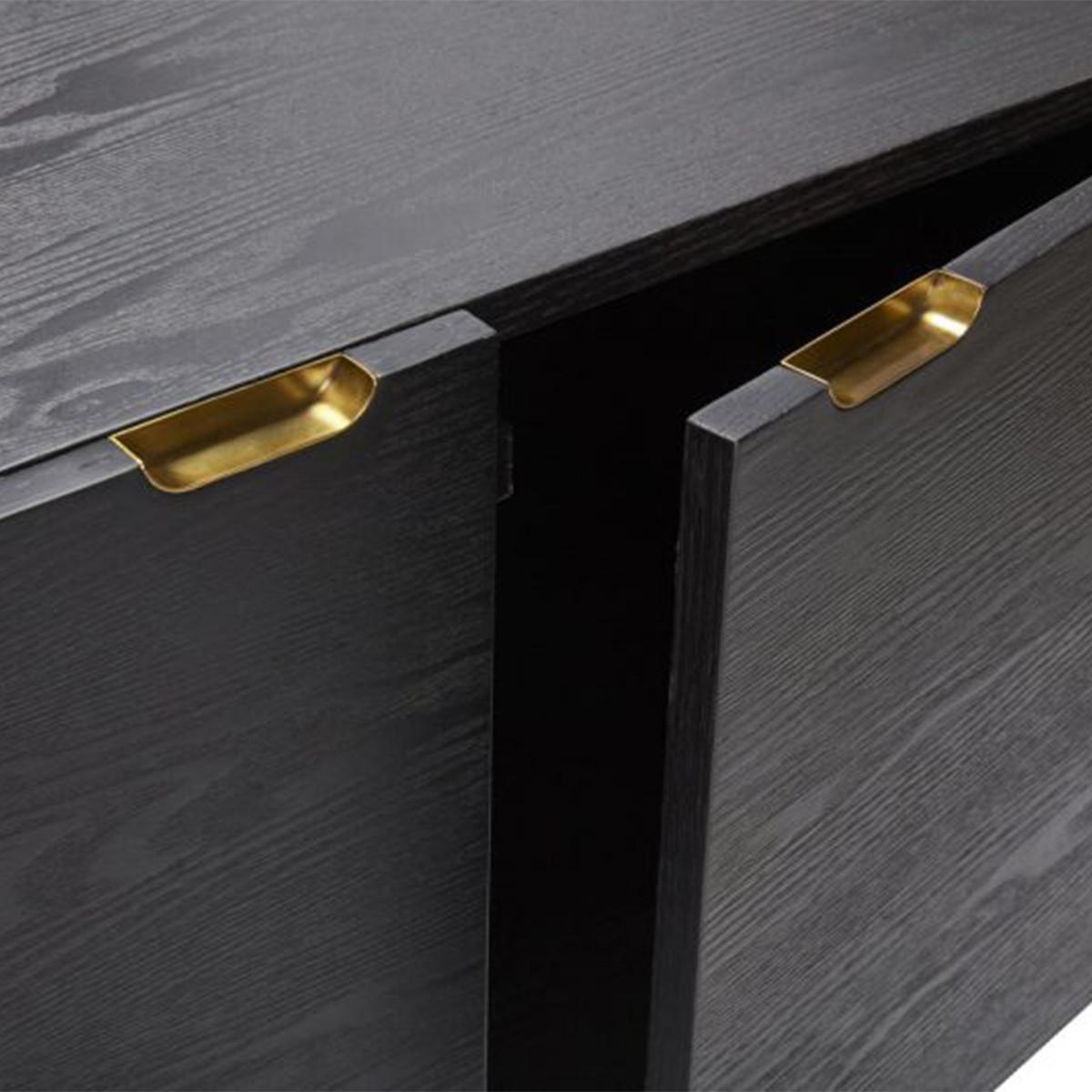 Meuble tv design noyer achat vente meubles tv scandinave for Meuble tv large