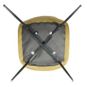 Pouf cubique en lin - TONGA LIN GRIS