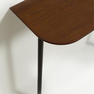 Table à manger ovale extensible en bois - NAO 120 TAUPE