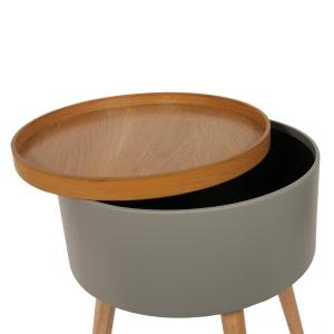 Etagère en bois et cuir - AERIS