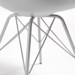 Fauteuil arrondi pivotant contemporain - ANCONE BLANC NOIR