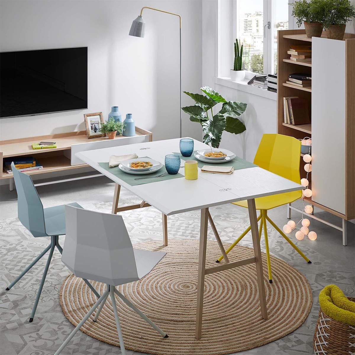 Ana gris chaise moderne en tissu achat vente chaises - Chaise tissu design ...